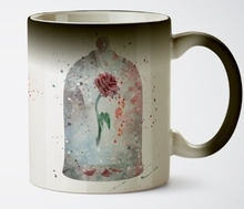 Beauty and the Beast mugs The Enchanted Rose mugs heat reveal mug heat sensitive mug magic tea  coffee  transforming