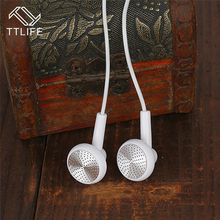 TTLIFE Wired Sports Earphones fashion Crystal Line Stereo Gold White Music Headset With Mic for All Phone Xiaomi Mp3(China)