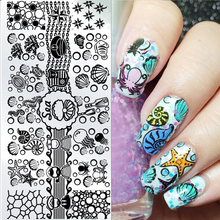 12*6cm Ocean Theme Nail Art Stamp Template Sea Shell Starfish Design Image Nail Stamping Polish Plate DIY Nail Tool L012