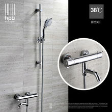 Buy HPB Brass Thermostatic torneira banheiro Bathroom Hot Cold Water Mixer Bath Shower Set Faucet HP2301 for $88.23 in AliExpress store