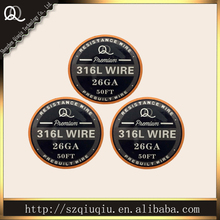Best Stainless steel 316L wire for Electronic cigarettes  atomizer coils 26ga 15m/roll 50FTfree shipping
