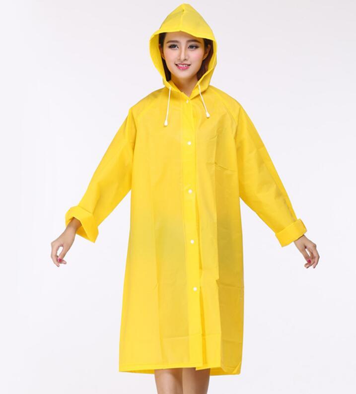 2pcs Thicken EVA men women raincoat women rainwear 8 colors  raincoat poncho