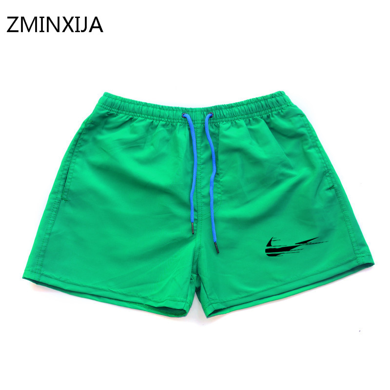 Summer Men Quick-dry Shorts Mens New Trendy Beach Letter-printed Short Male Colorful Breathable Fashionable Drawstring 7 Colors Board Shorts