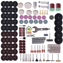 147pc Rotary Tool Accessory Attachment Set Kit Grinding Sanding Polishing Sander Abrasive Wood Drill for Dremel Electric Grinder(China)