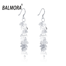 PCE675 Wholesale New Unique Silver Plated Drop Earrings Bijoux Umbrella Design Earrings for Women Lady Fashion Jewelry Aretes