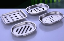 Creative Stainless Steel Double Layer Soap Dish Draining Large European Fashion Soap Dishes Box Case Bathroom Accessories Set(China)