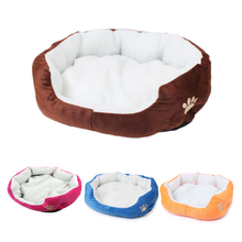 Cute Soft Dog Cat Pet Bed Mini House for Candy Colored Dogs Beds Soft Warm Pet House Kennel for Puppy Cat Pet Dog Supplies(China)