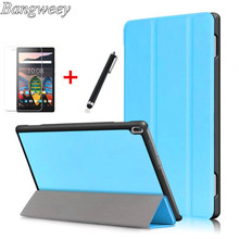 Case For Lenovo TAB 4 10 X304F, PU Leather Flip Smart Sleep Cover For lenovo tab 4 10 tb-x304N tablet laptop cases+film+pen