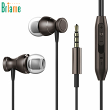 Metal Magnetic Sport Running Earphone In-Ear Earbuds Clarity Stereo Sound With Mic Headset Headphone For Mobile Phone MP3 MP4 PC