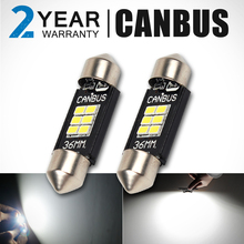 CN360 2PCS Extremely Bright Canbus Error Free 31mm 36mm 39mm 41mm Festoon Dome C5W Car LED Light Bulb(China)