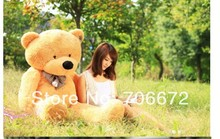 New stuffed circled-eyes light brown  teddy bear Plush 80 cm Doll 31 inch Toy gift wb8708