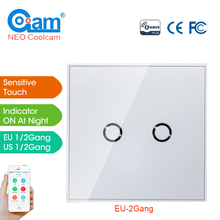 NEO Coolcam Smart Home Z-Wave 2CH EU Wall Switch Sensor Compatible Z-wave 300 series 500 series Home Automation