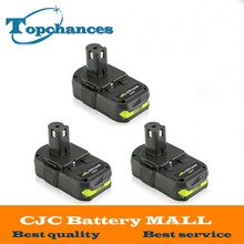 3PCS 18V 2500mAh Li-Ion Rechargeable Battery For Ryobi RB18L25 One Plus for power tools replace P103, P104, P105, P108