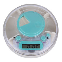 Digital Pill Case Box Timer Alarm Clock Reminder Medicine Organizer Container Daily Use 3 compartments LCD