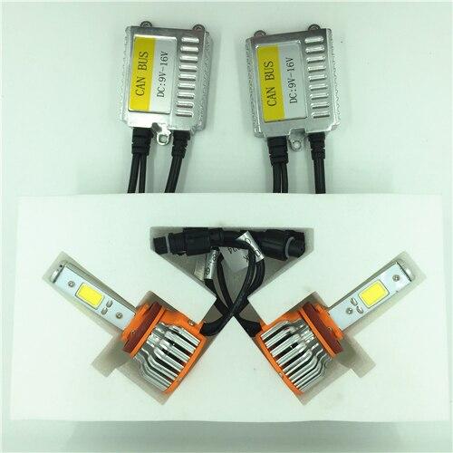 Super Bright COB 6000K H4 LED CANBUS Headlight Fog Driving Conversion KIT H1 H3 H7 H8/9/11 9005 9006 880/881 60W 8000LM White<br>