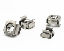 M4/M5/M6/M8 Cabinet Nuts Cage Iron Clip Caged Nut Square Rack Mount 304 Stainless Steel(China)