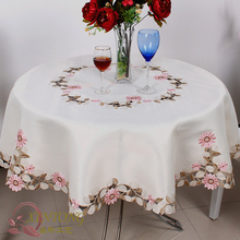 #815 Square Round embroidery Tablecloth table cloth dinner mat Europe polyester Mat table cover wholesale FG212