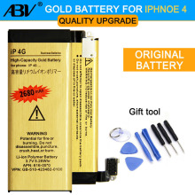 0 Cycle High Capacity Li-ion Gold Replacement Battery for iPhone 4G with 8 in 1 Repair tools kits