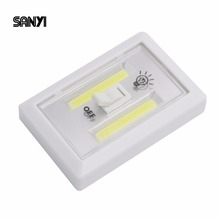 SANYI COB LED Switch Light Wireless Cordless Mini LED Night Light Lamp Wireless Wall Light With Switch Magic Tape Switch Light