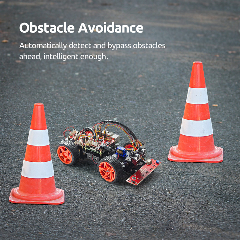 Obstacle Avoidance Line Following Remote Control RC Car Kit For Raspberry Pi 3 ,2 Model B+ (4)