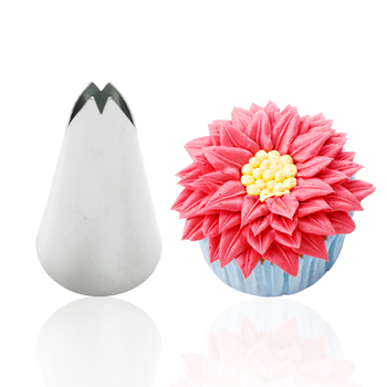 DIY Home Stainless Steel Leaf Icing Piping Nozzles Sugar Craft Cake Decorating Tools Cram Cupcake Decoration