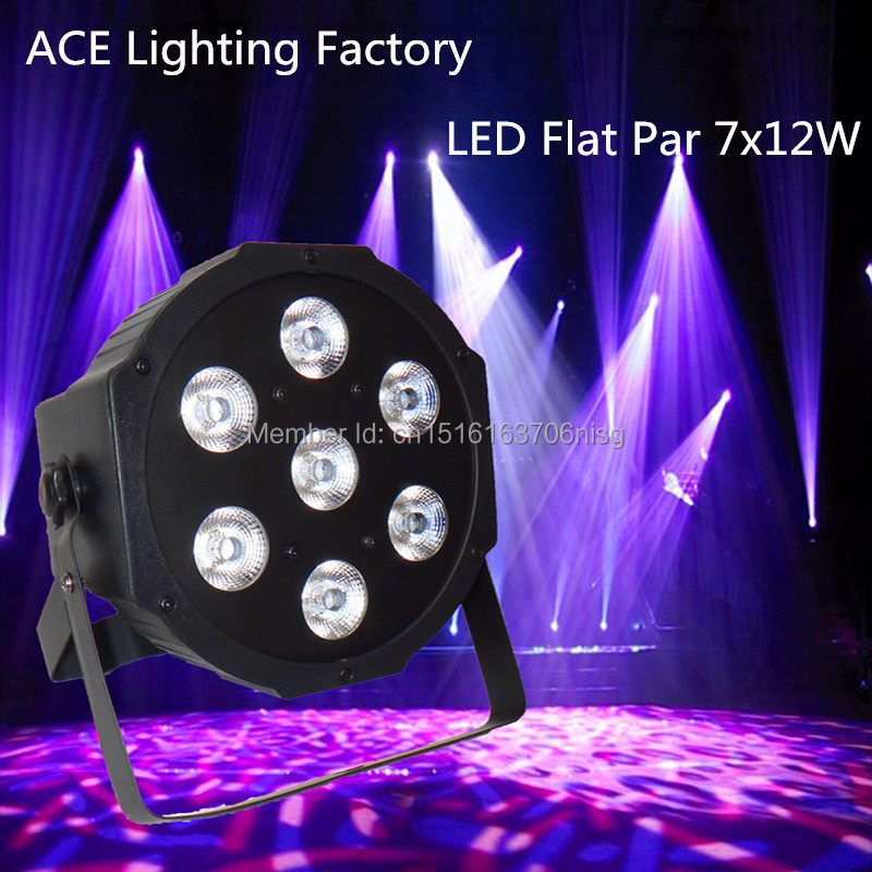 Free&amp;Fast shipping hot new flat led par 7x12w rgbw quad stage wash light<br>