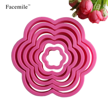6pcs Plum Blossom Flower Shape Cutter Bakeware DIY Fondant Gigt Biscuit Cookie Cutter Decorating Mold Baking Tools 02031