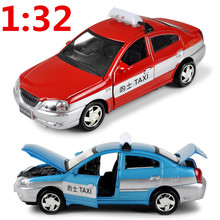1:32 Taxi model alloys, metal casting, Pull back sound and light, classic cars, to share collections, free shipping(China)