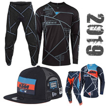 2019 Motocross Gear Set TOP ATV Moto MX Combos de carretera Jersey y pantalón incluyen equipo tapa(China)
