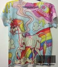 Track Ship+Vintage Retro Cool Rock&Roll Punk T-shirt Top Tee Life is Teriiel Poor Old Thin Horse Rainbow Tattoo 0040