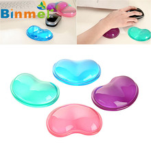 New Hot Heart Silicon Mouse Pad Clear Wristband Pad For Desktop Computer Wonderful Gift cuore della silicon mouse pad clara