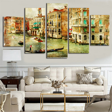 City Venice Canvas Painting 5 Piece Canvas Art Poster and Prints Wall Picture for Living Room Wall Art Poster Oil Painting S