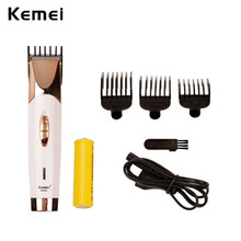 Kemei Professional Hair Clipper Cordless Rechargeable Hair Trimmer Electric Beard Shaver Razor Hair Cutting Machine With 3 Combs(China)