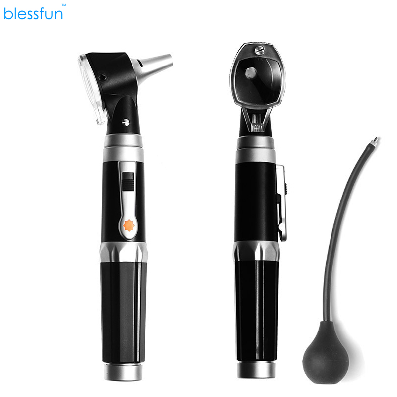Blessfun Professional Otoscope Diagnositc Kit Medical Ear Care LED Optical fiber Portable Otoscope New<br>