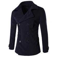 High Quality Mens Wool Pea Coats New Winter Style Men's Wool Winter Coat Streetwear Brand Designer Men Wool Coat Wholesale C113
