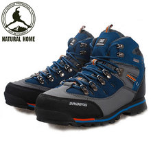 NaturalHome Outdoor Hiking Trekking Boots Waterproof Boot Brand Men Sport Shoes Mountain Climbing Hiking Shoes Boots