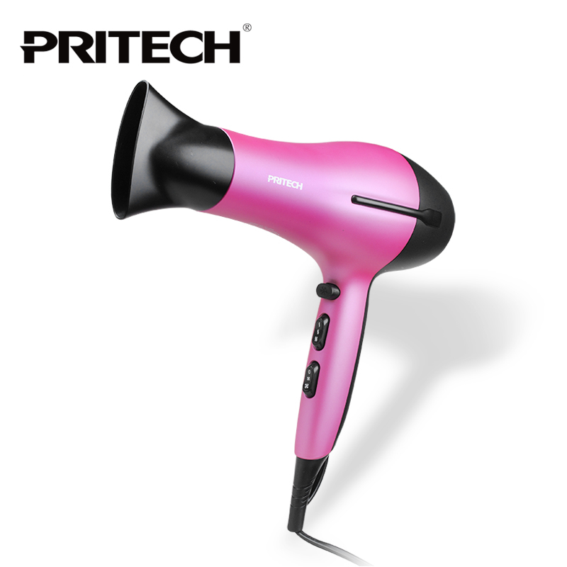 PRITECH New Styling Tools Hair Dryer Pink Professional Blow Dryer Hot And Cold Wind 2200W Hairdryer Free Shipping<br>