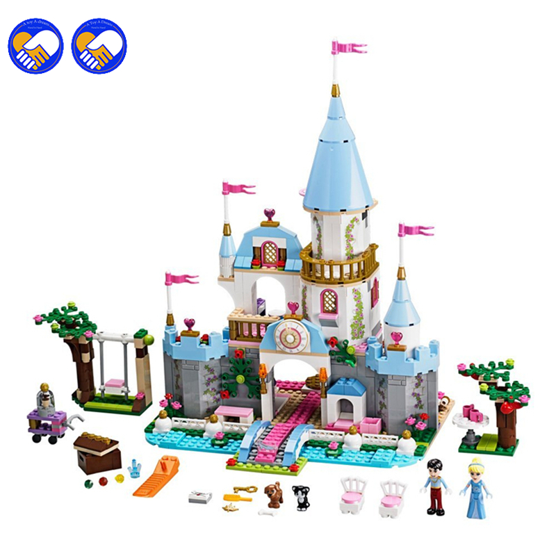 A toy A dream New SY325 Building Block Cinderella Romantic Castle Princess Blocks Bricks Girl Sets Toy Lepin<br>