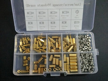 240PCS M3 PCB Hex Male Female Threaded Brass Standoff Spacers/Screws/Nuts Set kit(China)