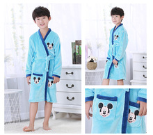 Hot Kids Flannel Nightgown Winter Bathrobe Warm Bathrobe Fleece Nightgowns Children Robes Bath Kids Girls Robe Sleepwear HONG21(China)