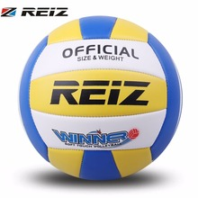 REIZ Indoor Outdoor Training Competition Volleyball Ball 21CM Official Size 5 Bright Color With Free Gift Net Needle