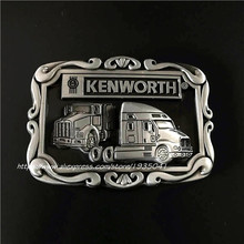 New High Quality Rectangle Silver Metal Belt Buckle Kenworth Truck buckles Fit 4cm Wide Belt Man,women Clothes Pants Accessories
