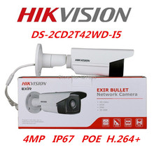 Buy Hikvision Original English Version DS-2CD2T42WD-I5 Replace DS-2CD3T45-I5 4MP EXIR Network Bullet IP Camera POE IR50m CCTV Camera for $117.00 in AliExpress store