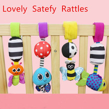 HOT Sale Baby Rattles hanging Bee with sound Cute Animal Infant Baby Crib Stroller Toy 0-12 months Plush Butterfly Bed Play Doll