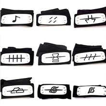 Naruto Weapon Model Headband Leaf Village Logo Akatsuki Cosplay Collection Figure Toys