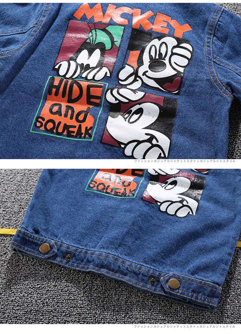 19 Mickey Denim Jacket For Boys Fashion Coats Children Clothing Autumn Baby Girls Clothes Outerwear Cartoon Jean Jackets Coat 17