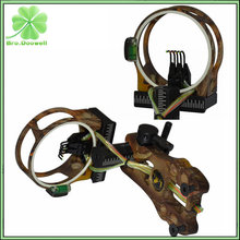 "Archery Camouflage Compound Bow Sight 5 Pin 0.019"" Fiber Optic Bowsight With Led Light Hunting Shooting Camo"