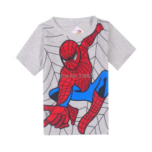boy's t shirt Spiderman  cotton short-sleeved t-shirt printing children's cartoon gray kids boys child's clothes free shipping