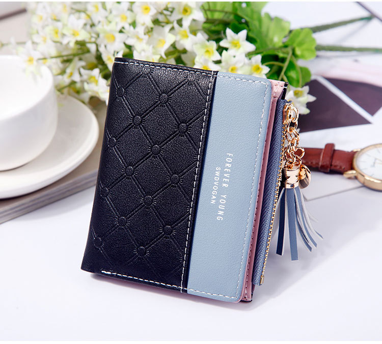 2018 Fashion Ladies Wallet Female Short Zipper Coin Purse Small Wallets Young Womens Tassel Hasp Purses Button Card Holder Pouch 77