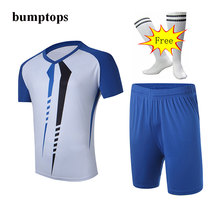 FREE SOCKS DIY Training Team Sportswear Mens Soccer Jerseys Football Kits Great Adult Outdoors Sports Customized Uniforms
